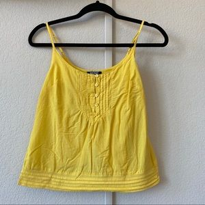 OLD NAVY ANNA BANANA CAMI EMBROIDERED YELLOW TANK